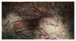 Early cave mural depicting hunting of deers